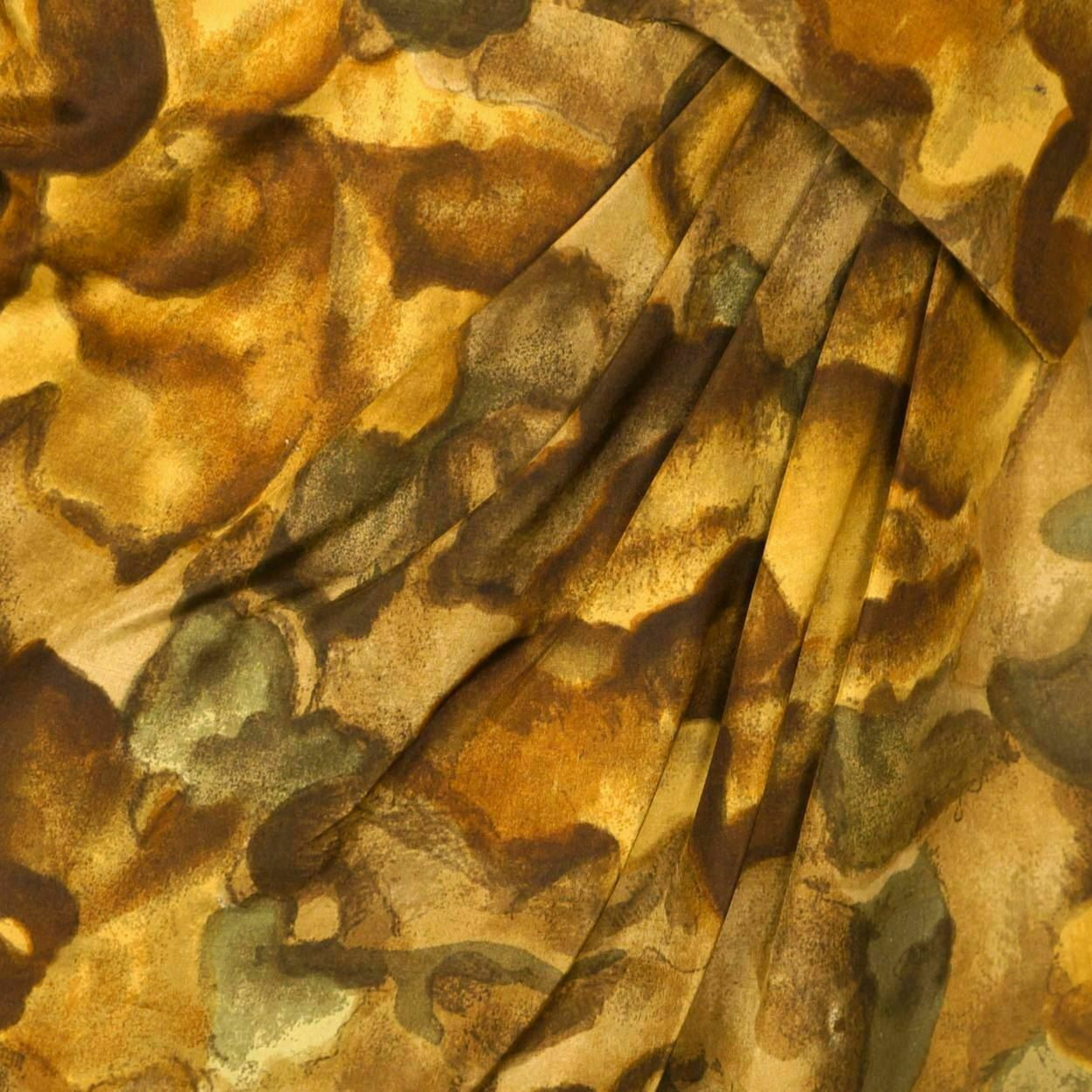 Vintage Ceil Chapman Wiggle Dress Abstract Leaf P… - image 7