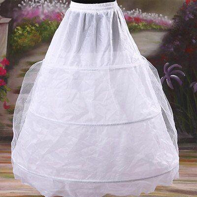 3 Hoop 2 Layer Wedding Prom Dress Bridal Petticoat Underskirt Crinoline Skirt