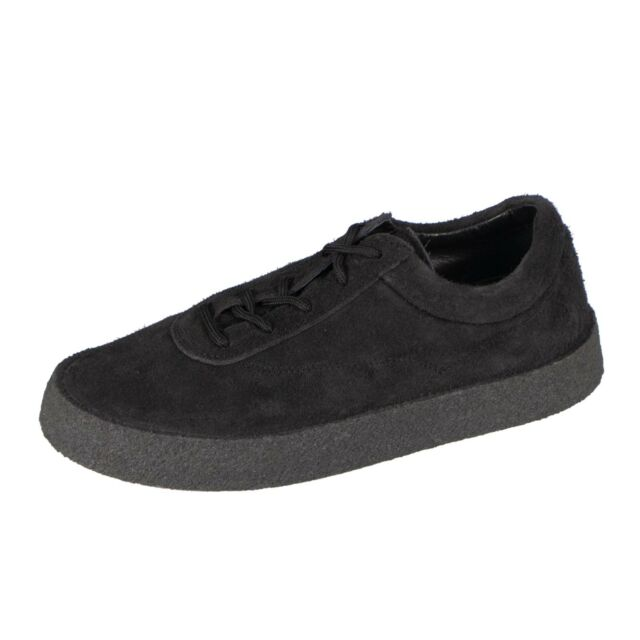 e222595393016 NWT YEEZY Season 6 Graphite Thick Shaggy Suede Crepe Sneakers Shoes 7 40   595