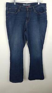Denizen-Levis-Womens-Jeans-Size-18-Short-Modern-Boot-Cut-Dark-Wash-Denim