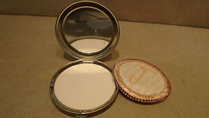 Vintage Coty Silver Tone Makeup Compact and Mirror