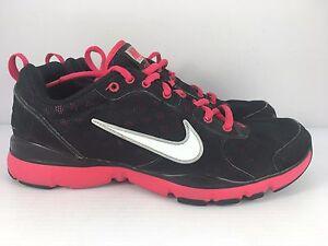 Nike Flex TR Women US 7 Black + Pink