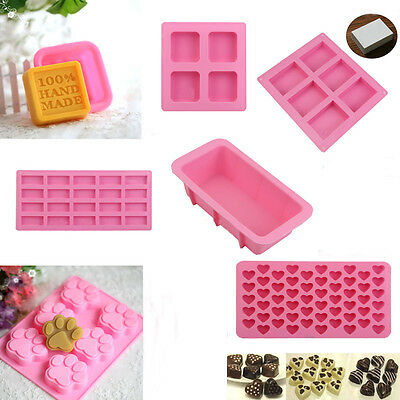 New Silicone Ice Cube Candy Chocolate Cake Cookie Cupcake Soap Molds Mould DIY