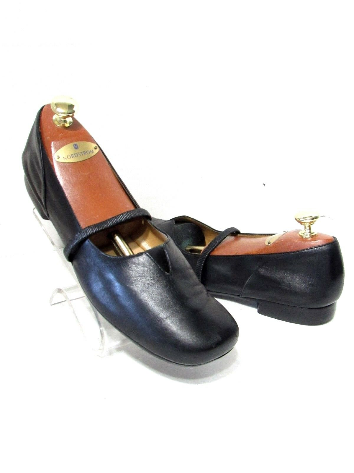 NORDSTROM Rose Soft Black Leather Mary Janes Comfort Shoes SZ 11 M