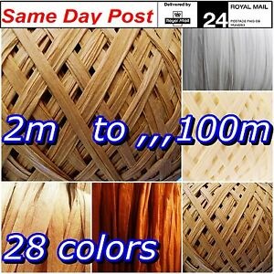 Raffia Paper Ribbon Caramel Ivory Ecru set colors decorating gift craft wrapping