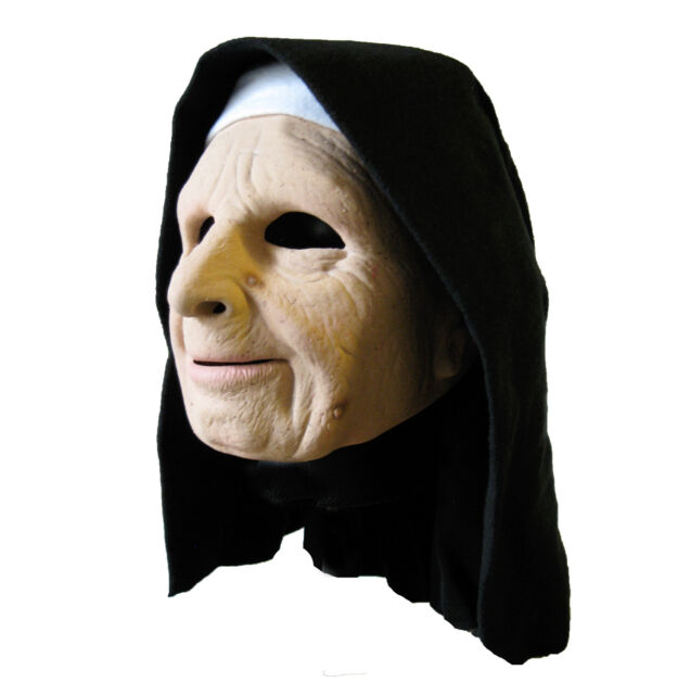 f701a26d9 Nun Old Woman Sister The Town Movie Latex Funny Creepy Halloween Mask