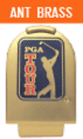 Pga Tour Logo Hat Clip - Without Ball Marker Matte Nickel Finsh By Ahead
