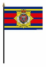 """ROYAL MARINES LOGISTIC CORPS  MILITARY PACK OF 12  FLAGS flag 6""""x4"""" & pole"""