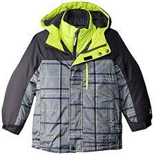 ZeroXposur Boys 3 in 1 Winter Jacket  NWT  Size  7  Gray Plaid   Retail $110.00