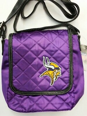 Minnesota Vikings Women Per-fect Bowler Bag Purse NFL Authentic by Little Earth