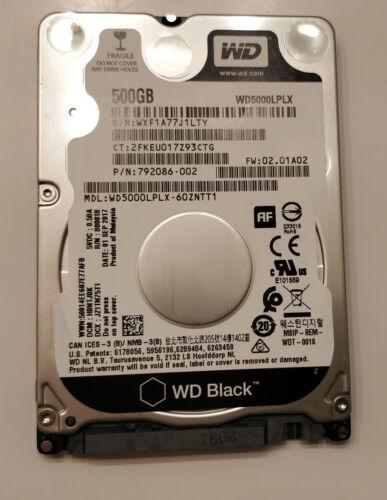 WD Black 500GB 2.5in Hard Drive WD5000LPLX 7200 RPM