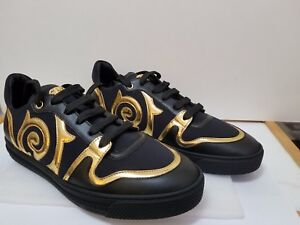 278caf38a Versace Men Medusa BAROCCO LOW-TOP Black and Gold color SNEAKER Size ...