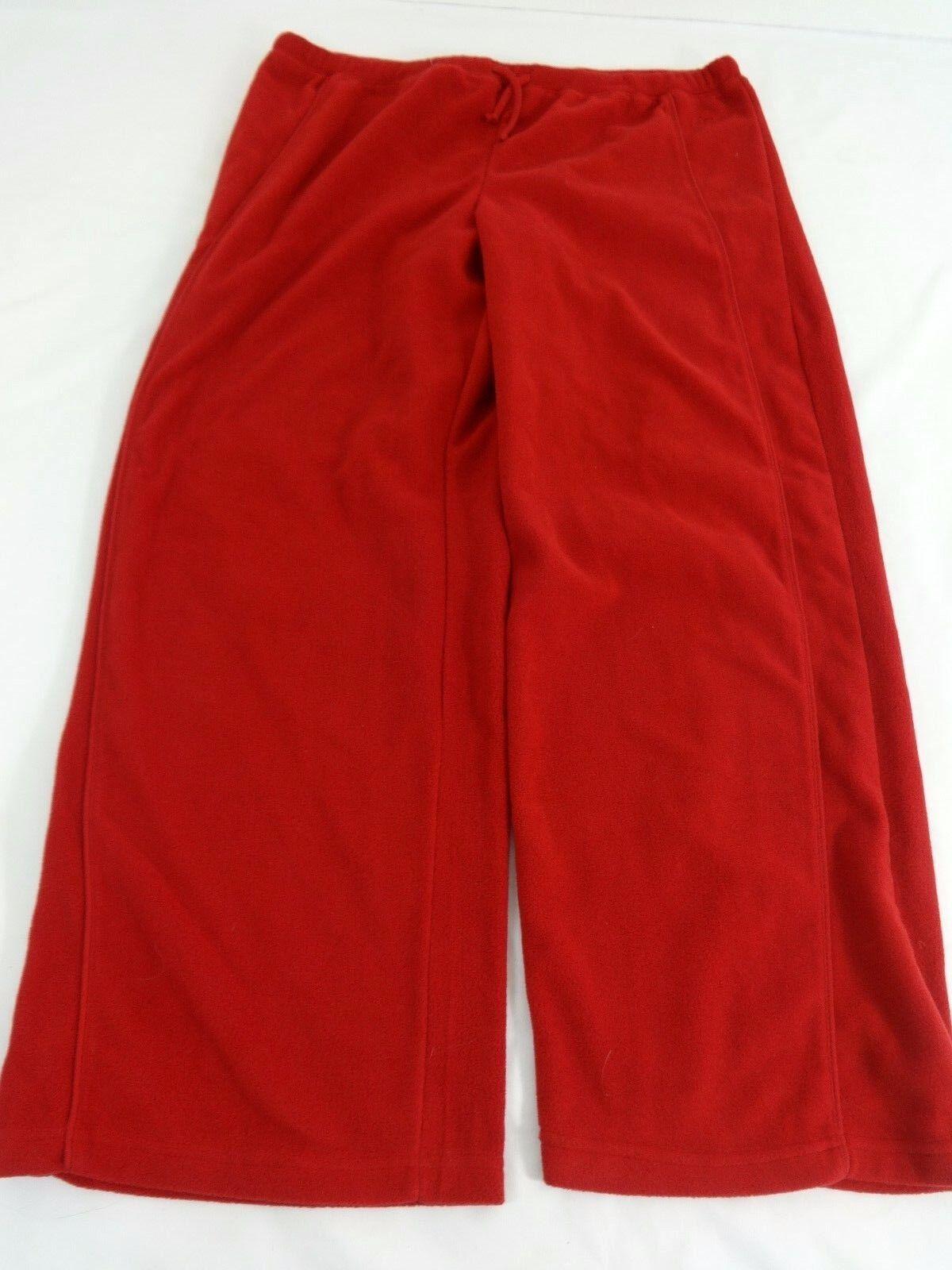 Athletch Damen Rot Vlies Sporthose Größe XL