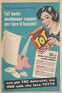 W1492-TOT-Sapone-per-fare-il-bucato-Pubblicita-del-1956-Old-advertising