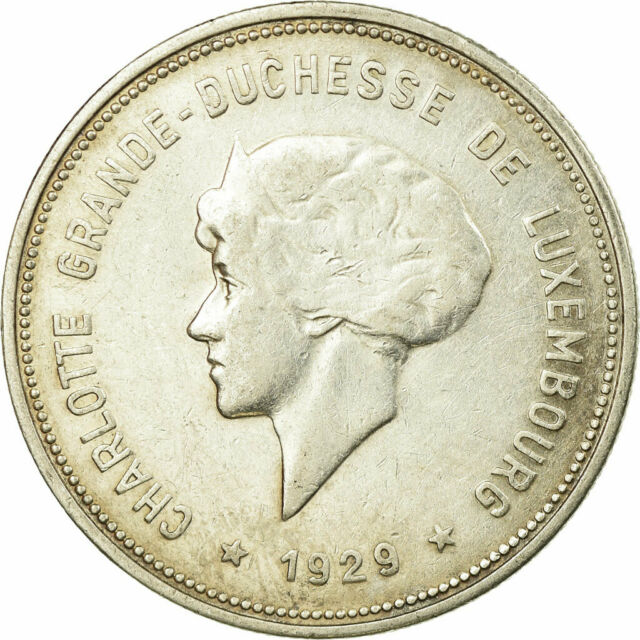 [#750669] Coin, Luxembourg, Charlotte, 5 Francs, 1929, VF(30-35), Silver, KM:38