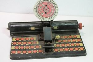 Vintage-Marx-Dial-Typewriter-1950s-Tin-Lithograph-Toy-Made-in-USA