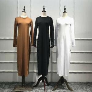 Women-Slim-Bodycon-Long-Dress-Muslim-Maxi-Cocktail-Party-Jilbab-Abaya-Robes-Gown