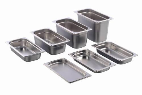 GN Behälter Gastronorm 1/3 Edelstahl 20 mm - 200 mm Tiefe