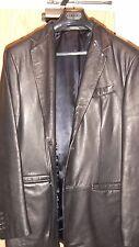 Banana Republic jacket 3/4 length style size L black leather