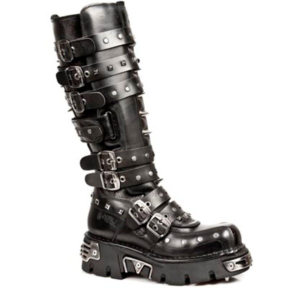 New Rock Stiefel Unisexe Punk Style Gothic Stiefel - Style Punk 796 S1 schwarz a905c6