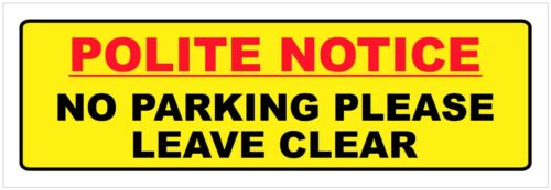 Wheel Clamp Keep Driveway Sign Or Sticker No Parking Garage Gates