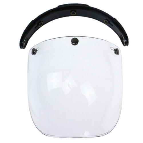 3-Snap Bubble Wind Shield Visor For Biltwell Gringo/&Bonanza Motorcycle   U6N3