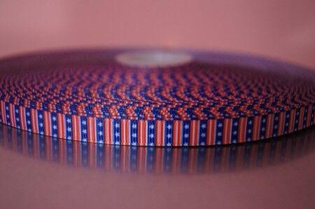2324 USA Étoiles 9 mm large ruban WebBand Galon
