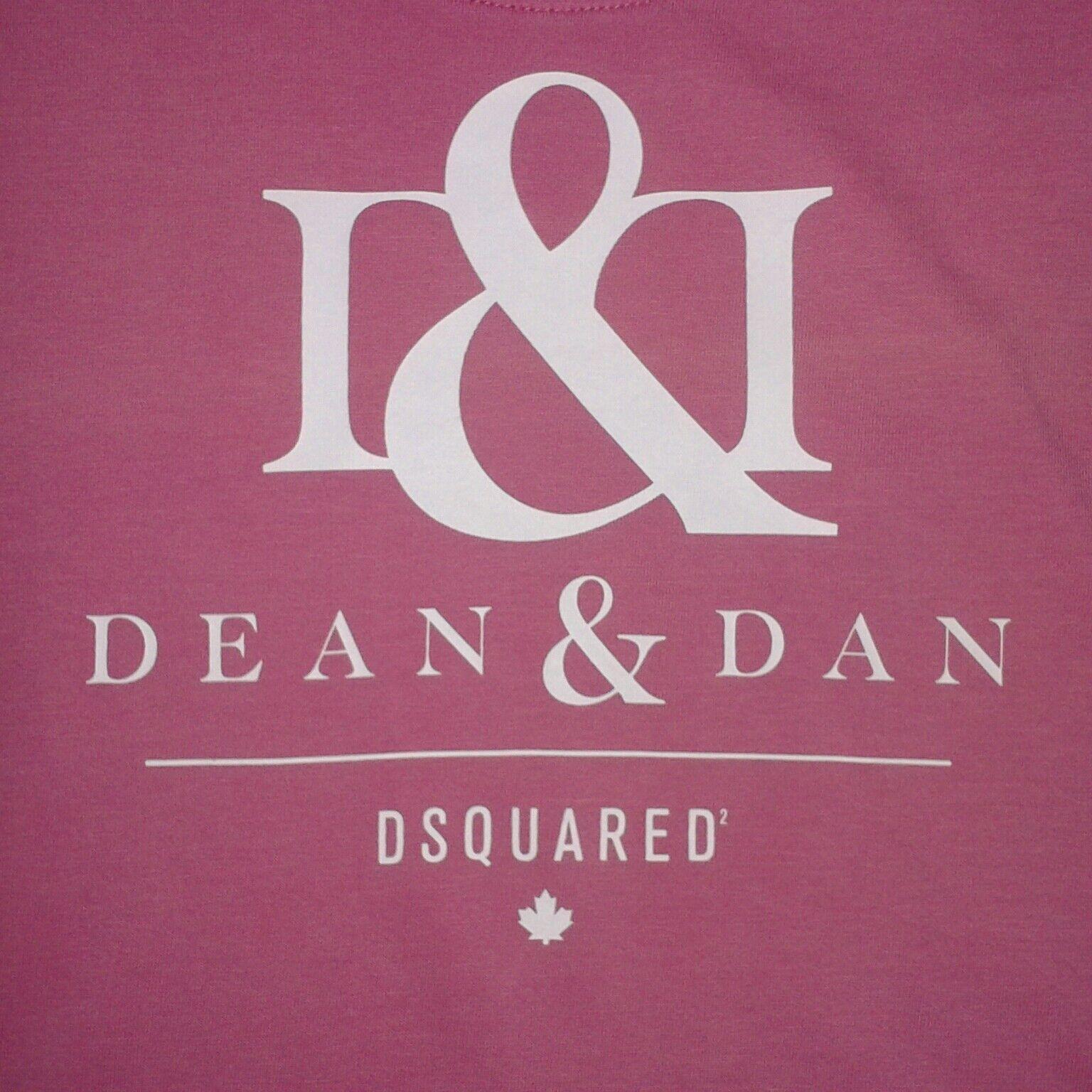 Dsquarot2 D&D Dean & Dan Woherren Rare Rosa Faded Wash T-Shirt - Medium