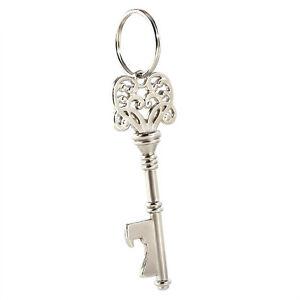 Fashion Key Shaped Bottle Opener Ring Keyring Keychain Metal Beer Fobs Bar Tool