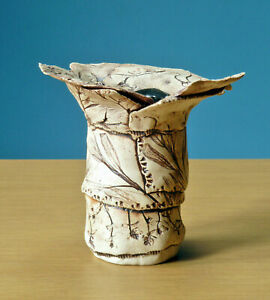 Studio-Pottery-Ikebana-Vase-Slab-Work-Ceramics-Mingei-Modernist