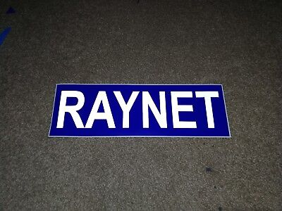 RAYNET Magnet REFLECTIVE Magnetic Radio Amateurs Emergency Network  460mm x1