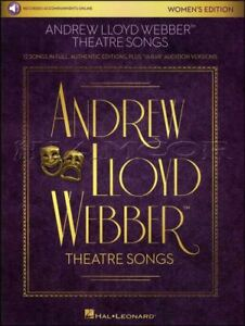 Andrew Lloyd Webber Theatre Chansons Pour Femme édition Vocal Sheet Music Book/audio-afficher Le Titre D'origine