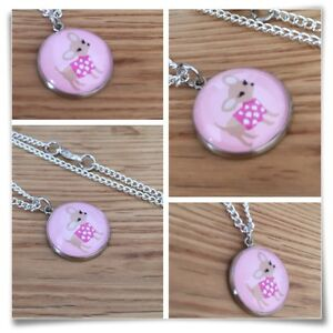 Chihuahua-Chi-Dog-Pink-Miniature-Charm-pendant-necklace