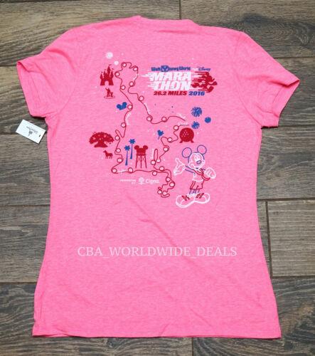 "New runDisney 2016 Marathon /""I Did It!/"" Women/'s Pink Finisher T-Shirt XL//2XL"