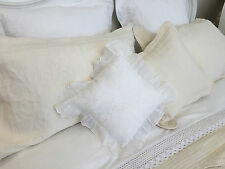 "BEAUTIFUL FINELY STITCHED CREAM QUILTED PILLOWSHAM 100% COTTON PATCHWORK 20""X30"""