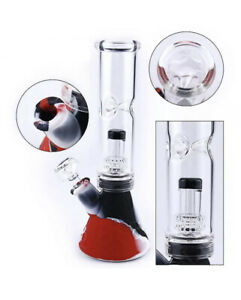 Ice-Bong-10-034-Silicone-amp-Glass-Water-Pipe-Beaker-USA-SELLER-Color-May-Vary