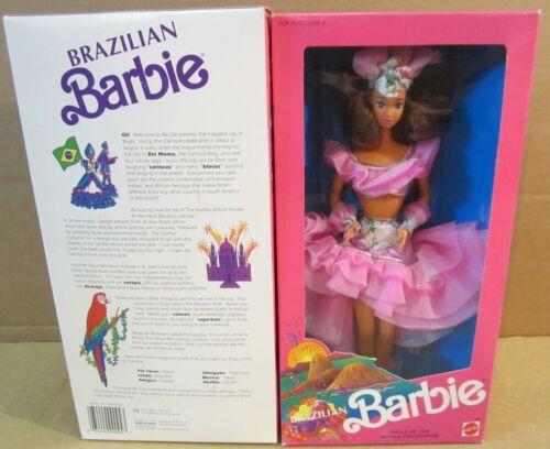 Brazillian Barbie Doll Wears Samba Costume Dolls of the World Collection NEW