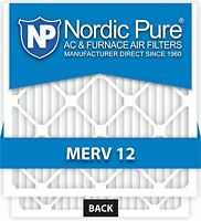 Nordic Pure 16x25x5 Honeywell Replacement Ac Furnace Air Filters Merv 12, Box Of on sale