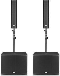 DYNACORD-AKTIV-PA-4000-W-VERTICAL-ARRAY-034-AUSSTELLER-034-2x-TS400-2x-PSD218-BOX
