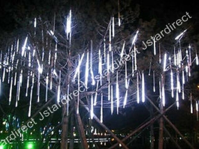 30cm/ 144 LED Meteor Shower Rain Lights 8 Tubes String for Xmas