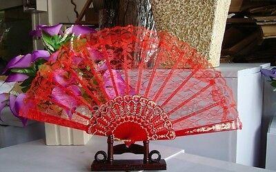Lace Chinese Wing Chun Style Dancing Fun Folding Lace Hand Fan