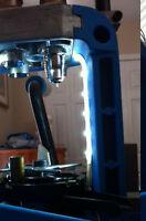 4 Inch Reloading Press Led Light W/ Pwr Hornady Dillon Rcbs Lee Lyman Cool White