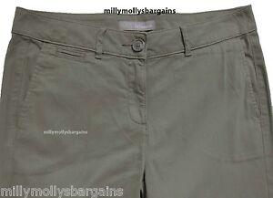 Nueva-camiseta-para-mujer-Marks-amp-Spencer-Verde-Chino-Pantalones-Tamano-12-10-30-29-pierna