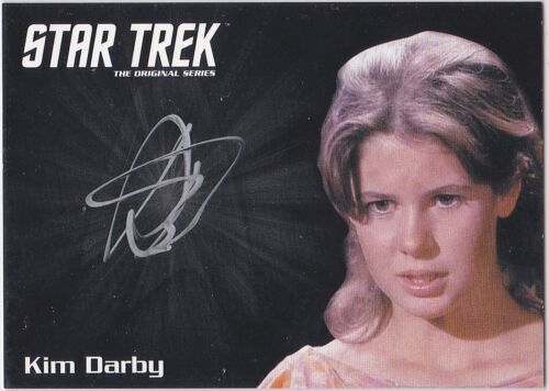 STAR TREK THE ORIGINAL SERIES 50TH ANNIVERSARY KIM DARBY AS MIRI AUTOGRAPH