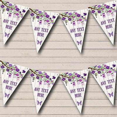 Shabby Chic Vintage Wood Lilac Personalised Wedding Bunting