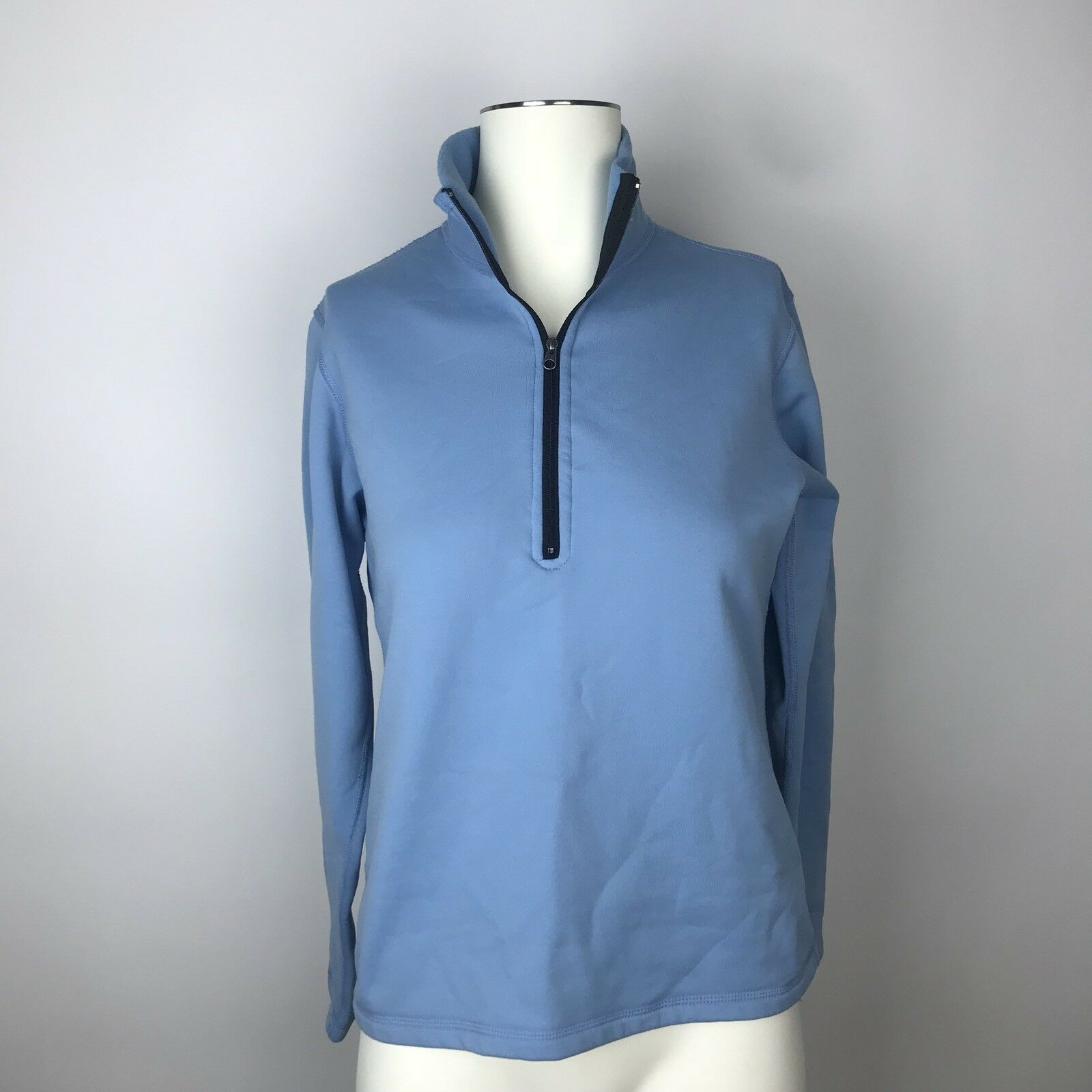 MOUNTAIN HARDWEAR Blue Half Zip Fleece Pullover Lightweight Jacket Top Small