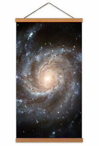 Space-Universe-Pinwheel-Galaxy-Messier-101-Canvas-Wall-Art-Print-Poster