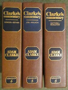 CLARKE-S-COMMENTARY-3-Vol-Set-by-Adam-Clarke-Bible-Commentary-EXCELLENT-Cond