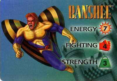 OverPower Banshee 3-Grid Character Card Ungraded CCG Marvel DC Image