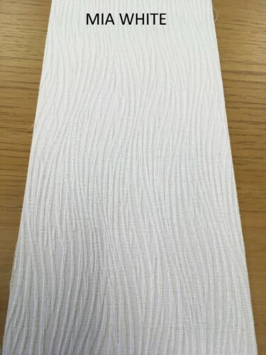 White or Cream Vertical Blinds /& Headrail Made to measure Complete kit